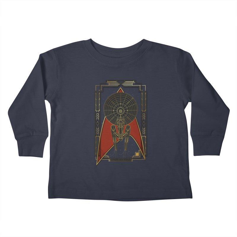 Explore new worlds Kids Toddler Longsleeve T-Shirt by Sebasebi