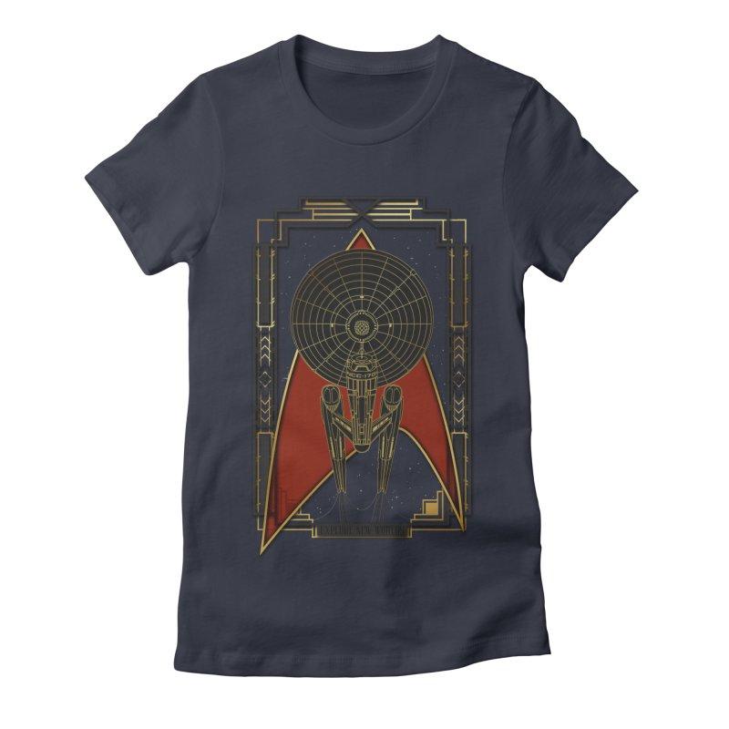 Explore new worlds Women's Fitted T-Shirt by Sebasebi