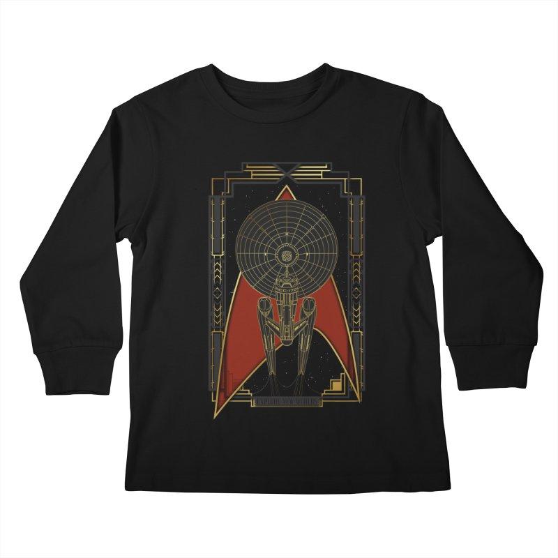 Explore new worlds Kids Longsleeve T-Shirt by Sebasebi