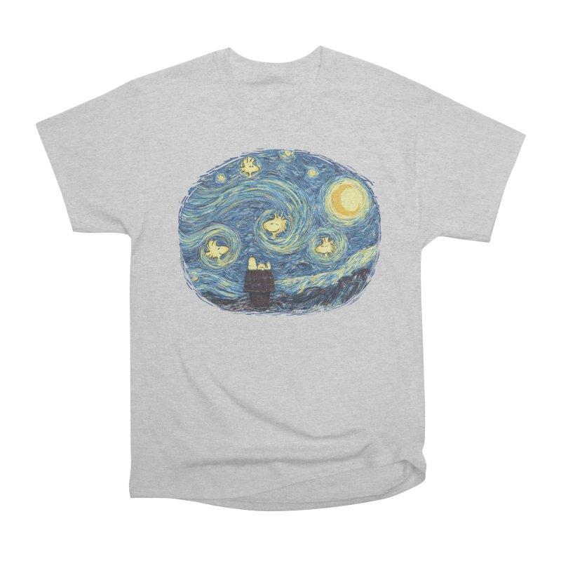 Woody night Women's Heavyweight Unisex T-Shirt by Sebasebi