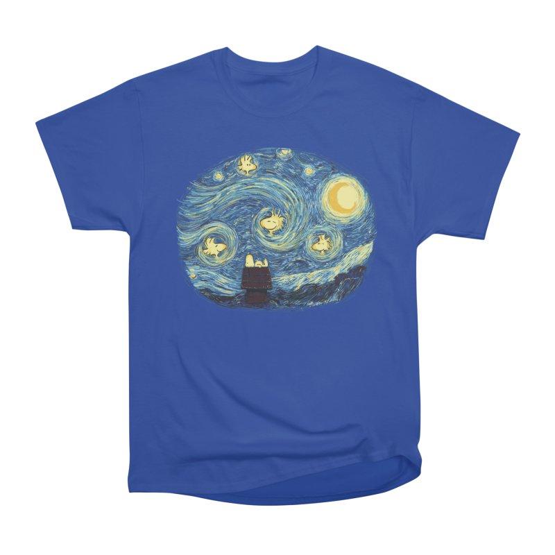 Woody night Men's Heavyweight T-Shirt by Sebasebi
