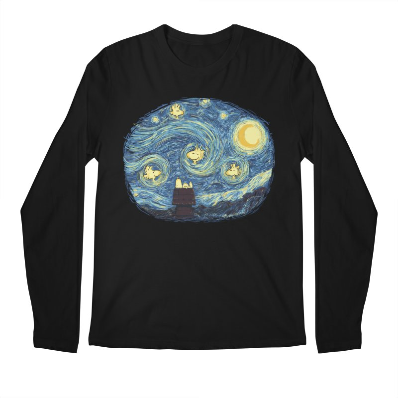 Woody night Men's Regular Longsleeve T-Shirt by Sebasebi