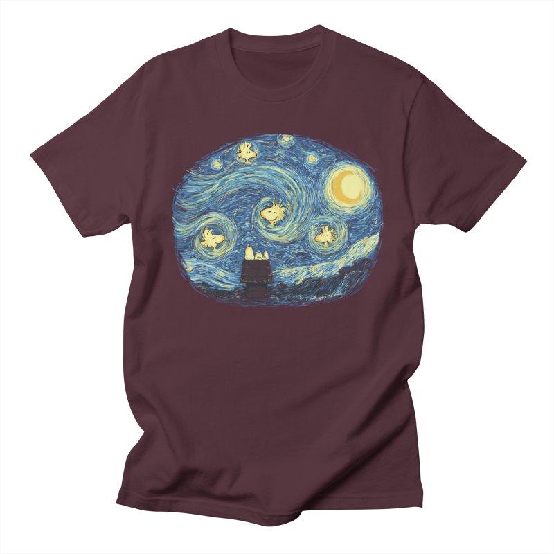 Woody night Men's T-Shirt by Sebasebi