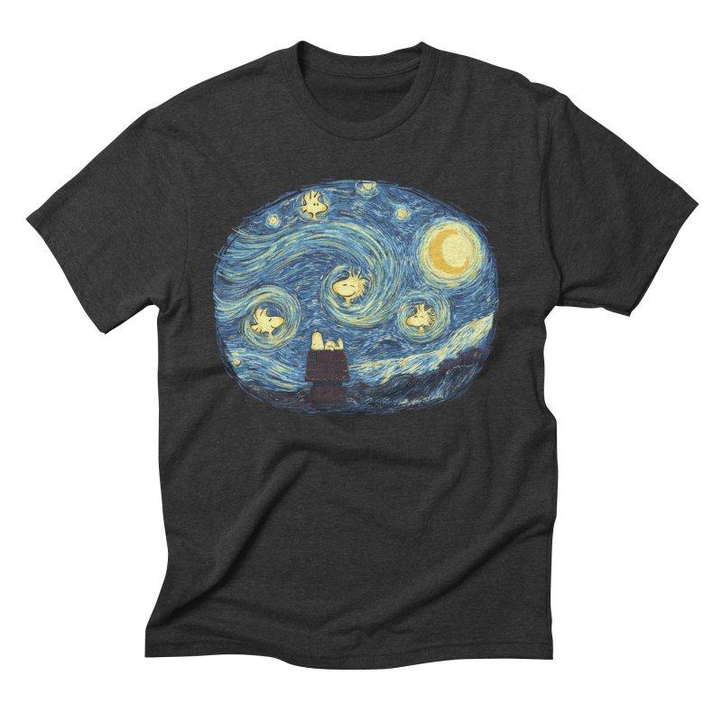 Woody night Men's Triblend T-Shirt by Sebasebi