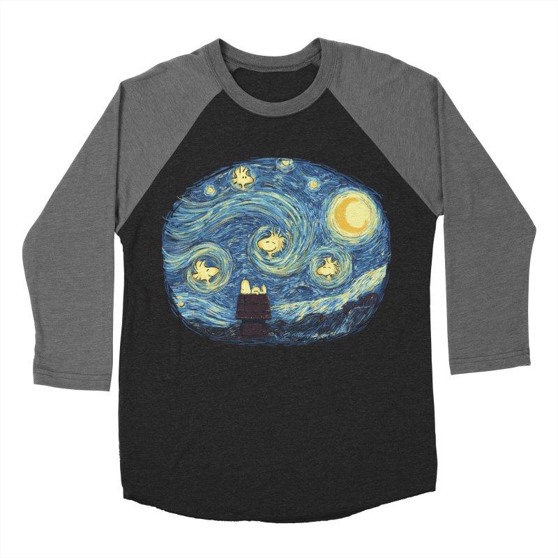 Woody night Men's Baseball Triblend Longsleeve T-Shirt by Sebasebi