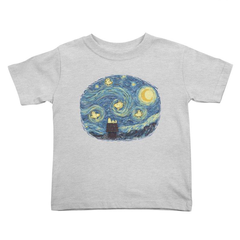 Woody night Kids Toddler T-Shirt by Sebasebi