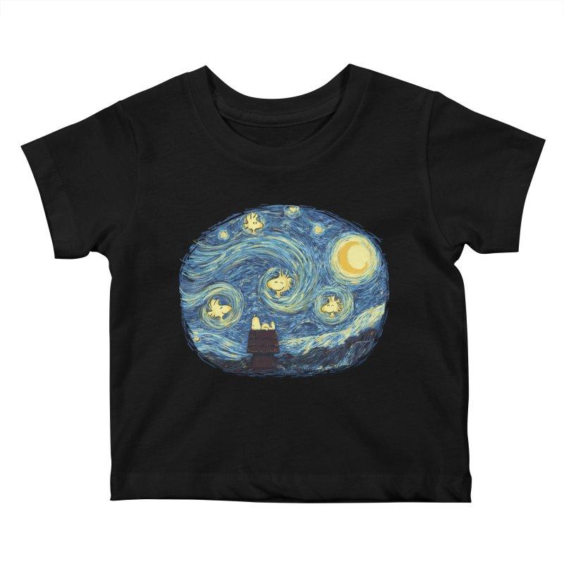 Woody night Kids Baby T-Shirt by Sebasebi