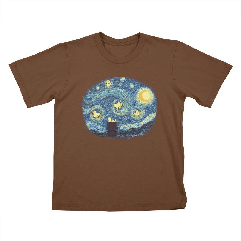 Woody night Kids T-Shirt by Sebasebi