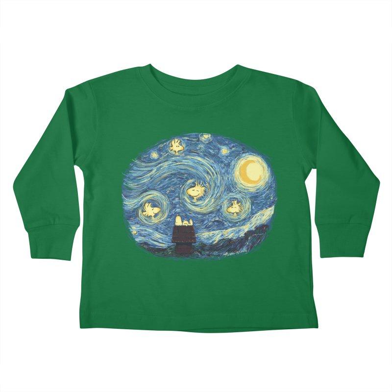 Woody night Kids Toddler Longsleeve T-Shirt by Sebasebi