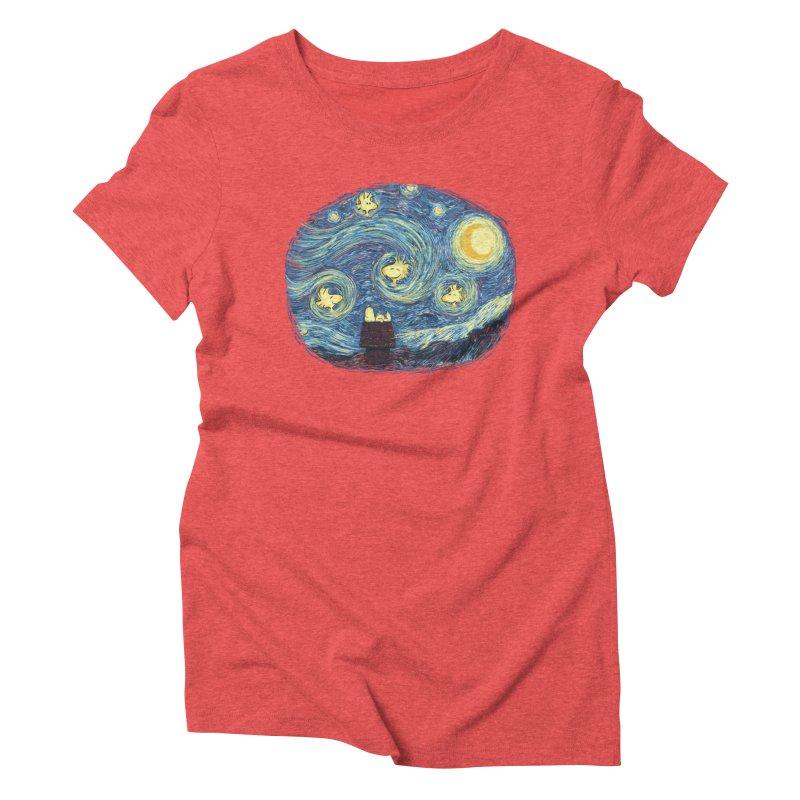Woody night Women's Triblend T-Shirt by Sebasebi