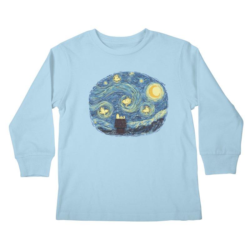 Woody night Kids Longsleeve T-Shirt by Sebasebi