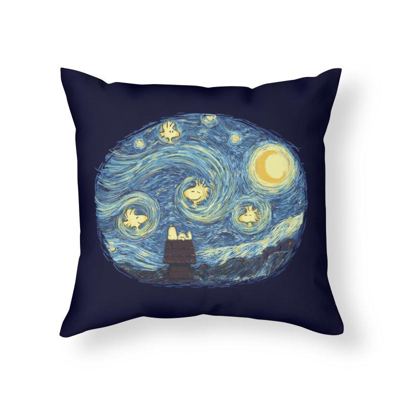 Woody night Home Throw Pillow by Sebasebi