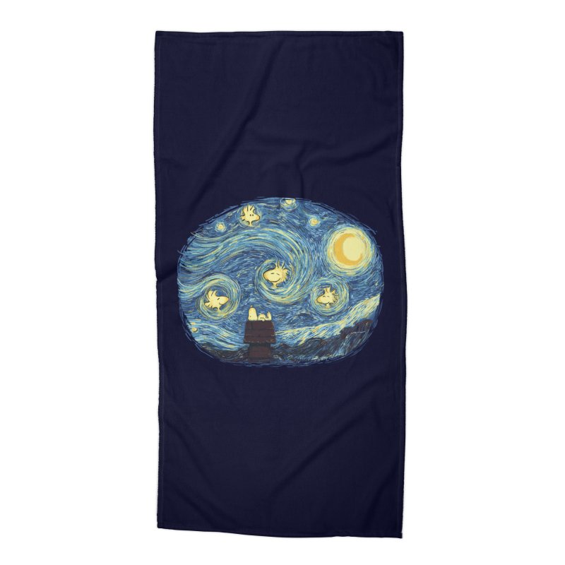 Woody night Accessories Beach Towel by Sebasebi