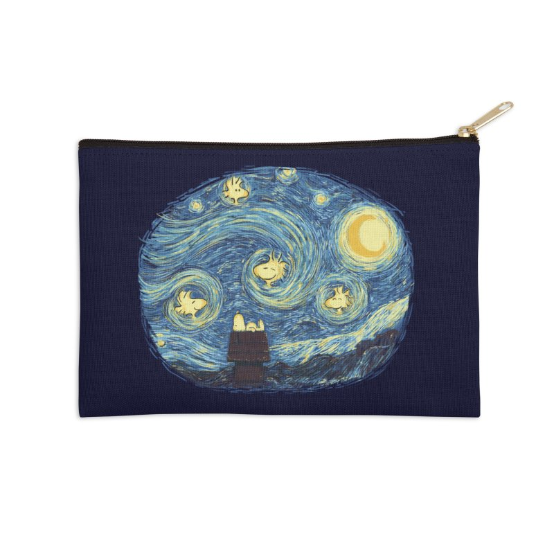 Woody night Accessories Zip Pouch by Sebasebi