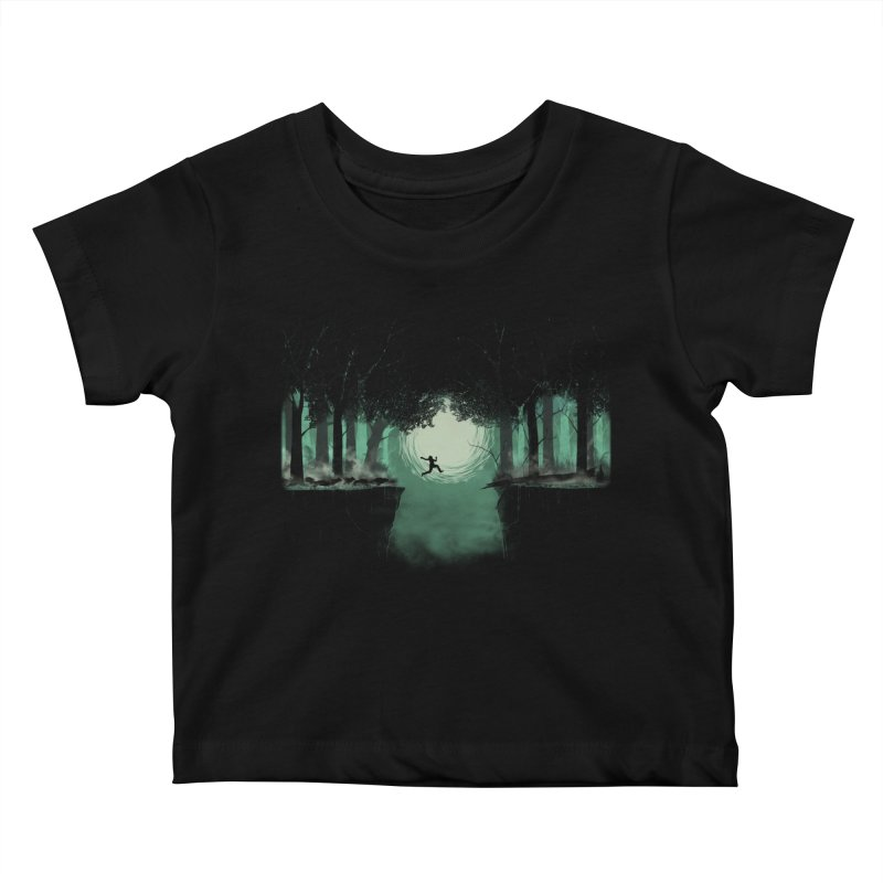The Great Escape Kids Baby T-Shirt by Sebasebi
