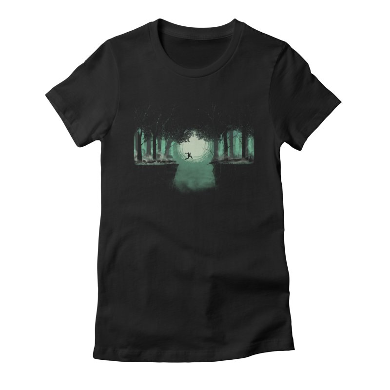 The Great Escape Women's Fitted T-Shirt by Sebasebi