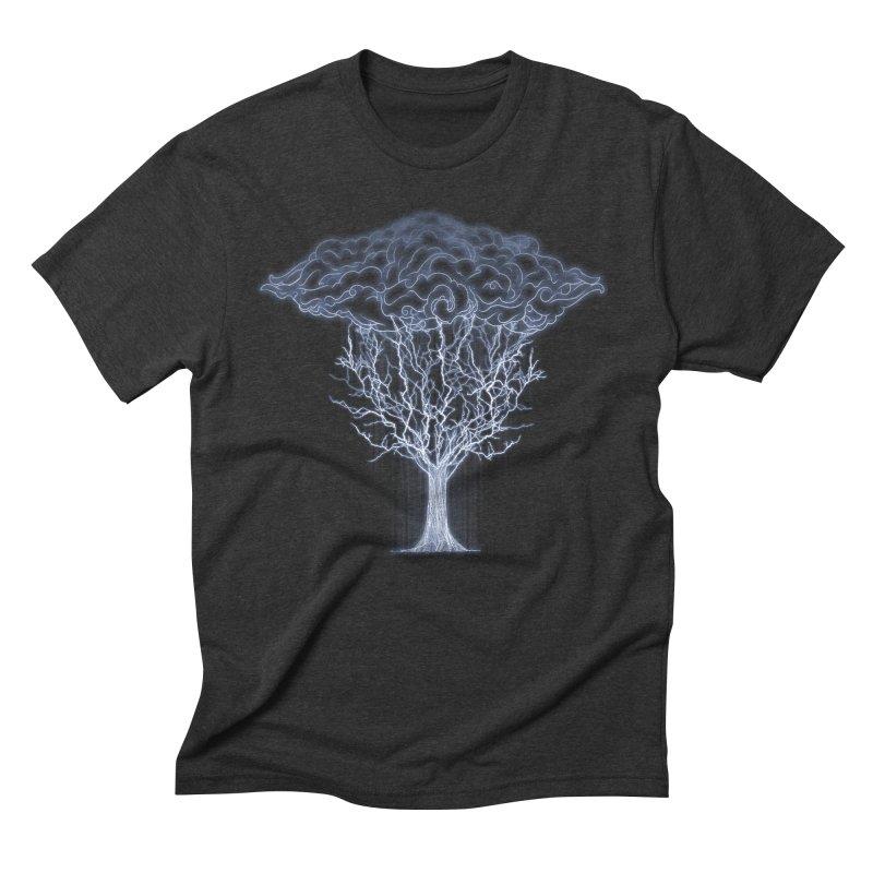 Tree of Lightings Men's Triblend T-shirt by Sebasebi
