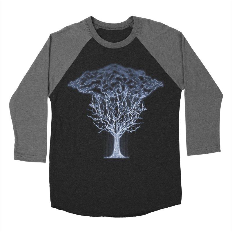 Tree of Lightings Men's Baseball Triblend T-Shirt by Sebasebi