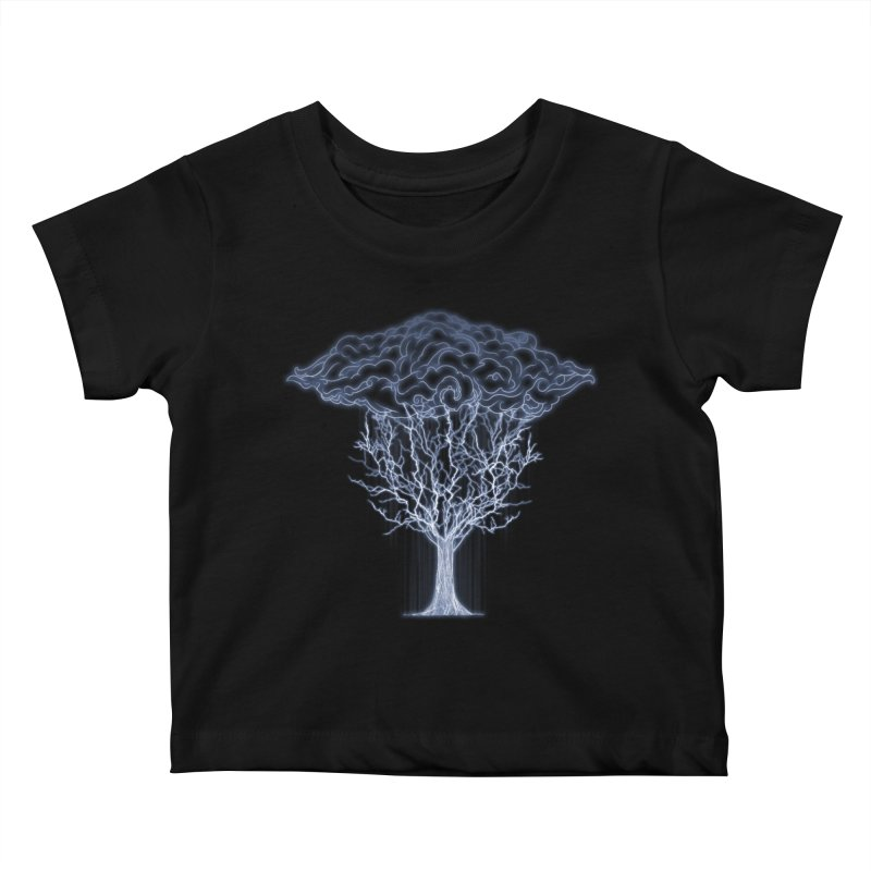 Tree of Lightings Kids Baby T-Shirt by Sebasebi