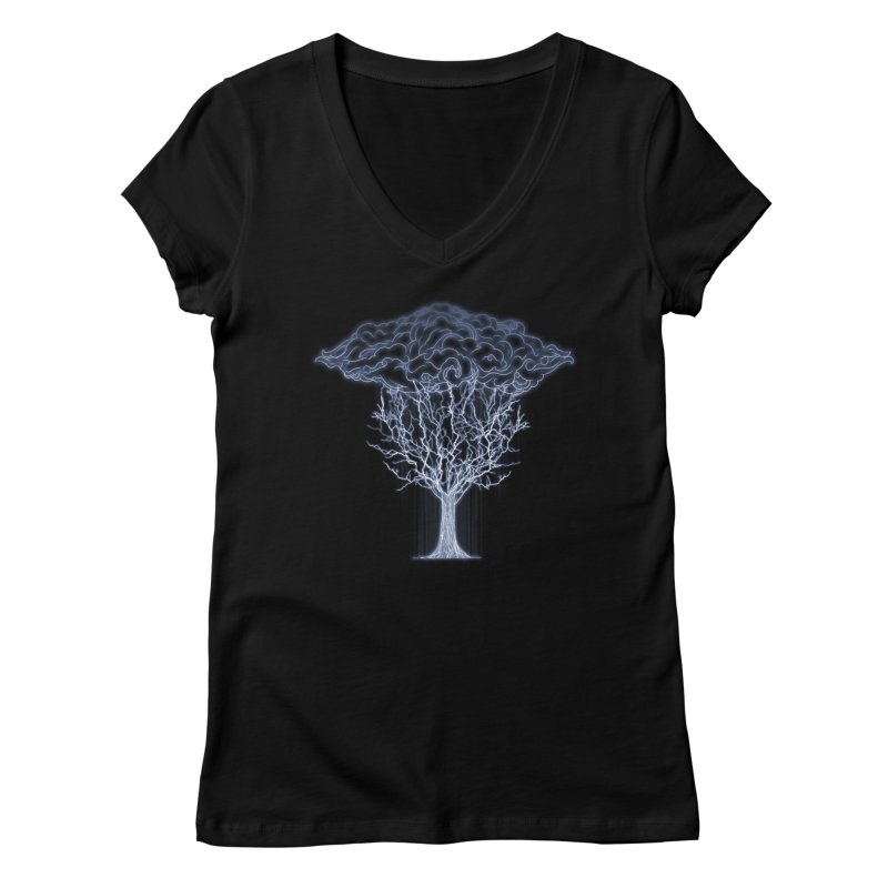 Tree of Lightings Women's V-Neck by Sebasebi