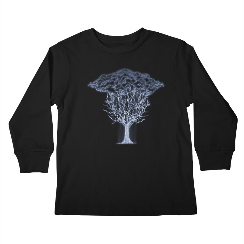 Tree of Lightings Kids Longsleeve T-Shirt by Sebasebi
