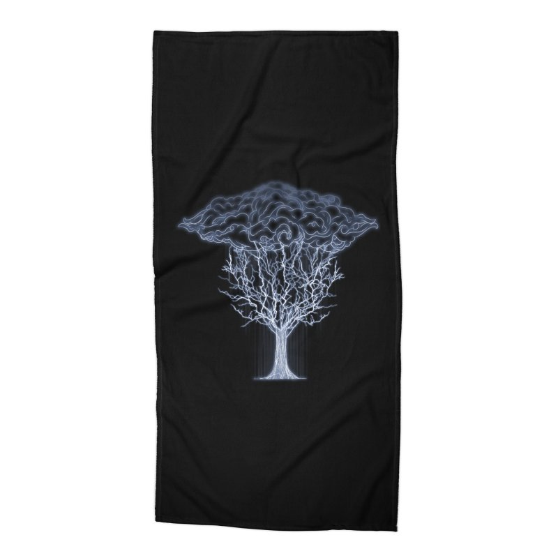 Tree of Lightings Accessories Beach Towel by Sebasebi