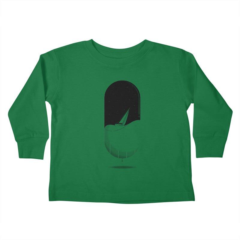 The sea in a pill Kids Toddler Longsleeve T-Shirt by Sebasebi