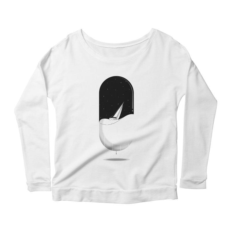 The sea in a pill Women's Scoop Neck Longsleeve T-Shirt by Sebasebi