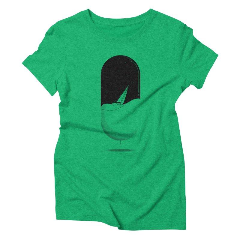 The sea in a pill Women's Triblend T-shirt by Sebasebi