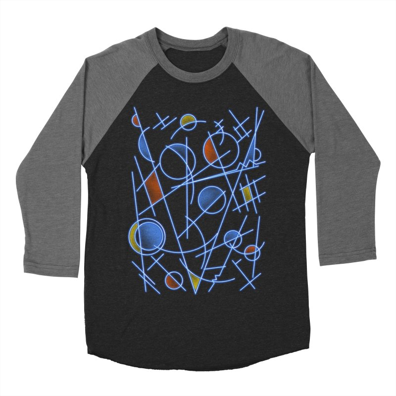 kandinsktronic Men's Baseball Triblend T-Shirt by Sebasebi
