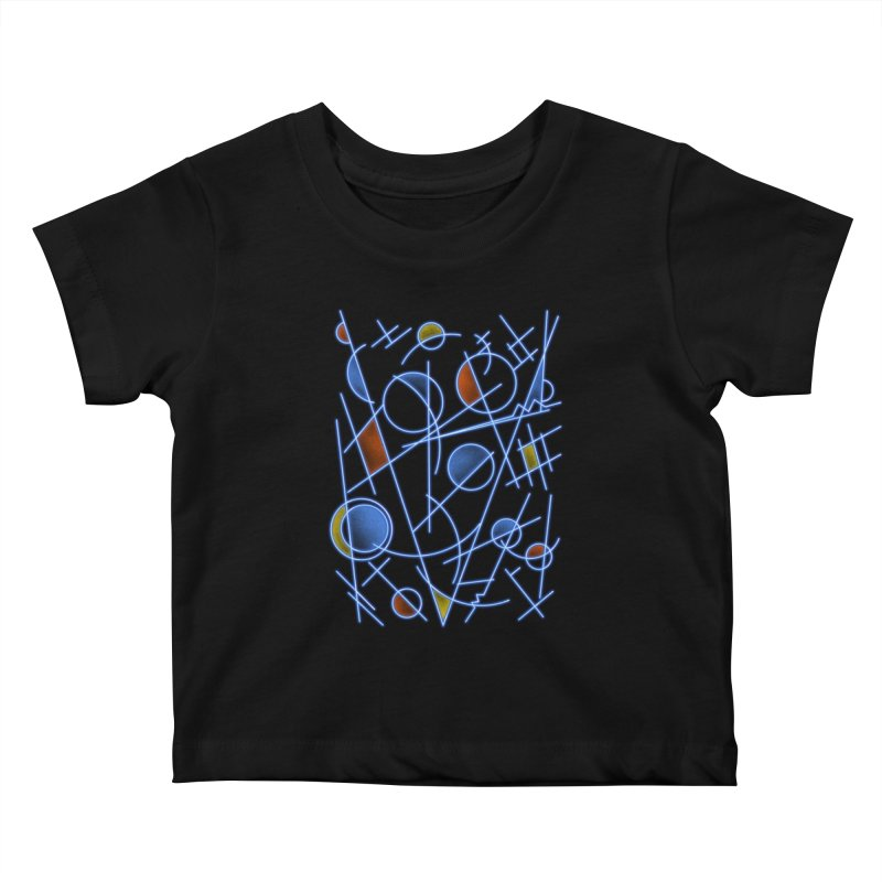 kandinsktronic Kids Baby T-Shirt by Sebasebi
