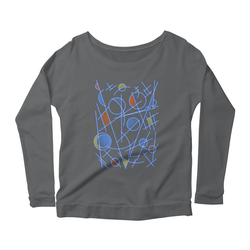 kandinsktronic Women's Scoop Neck Longsleeve T-Shirt by Sebasebi