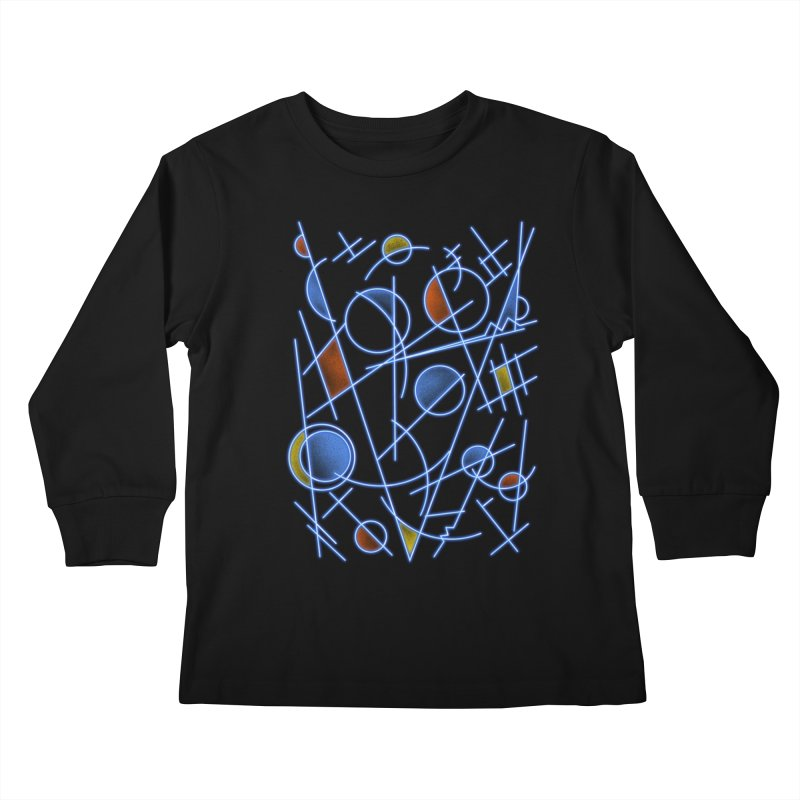 kandinsktronic Kids Longsleeve T-Shirt by Sebasebi