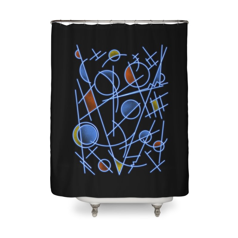 kandinsktronic Home Shower Curtain by Sebasebi