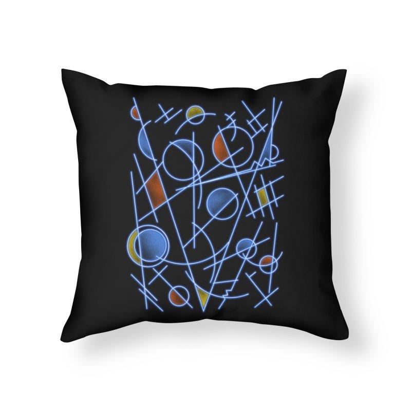 kandinsktronic Home Throw Pillow by Sebasebi