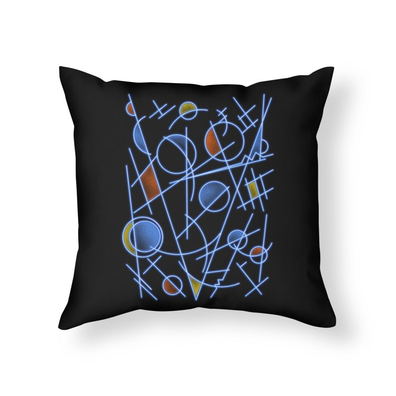kandinsktronic Home Throw Pillow by Sebasebi