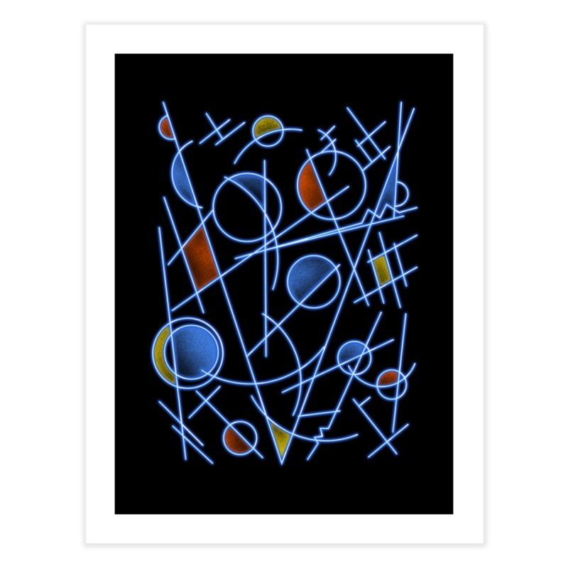 kandinsktronic Home Fine Art Print by Sebasebi