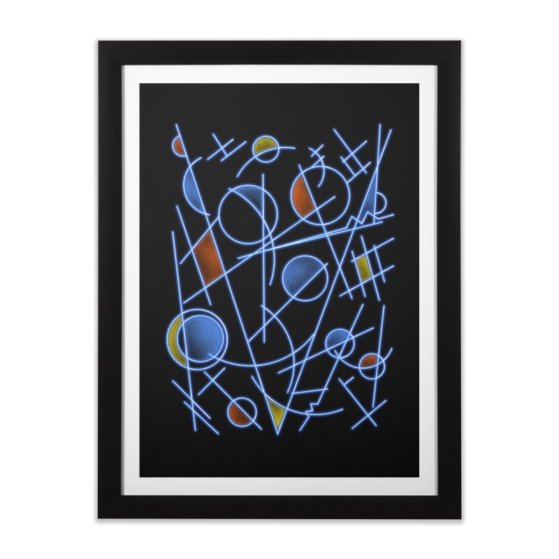 kandinsktronic Home Framed Fine Art Print by Sebasebi