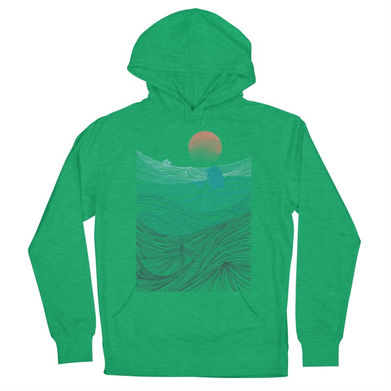 Behind the great whale Men's French Terry Pullover Hoody by Sebasebi