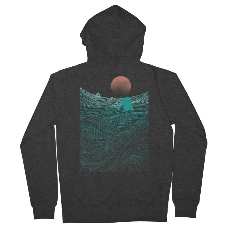 Behind the great whale Women's Zip-Up Hoody by Sebasebi