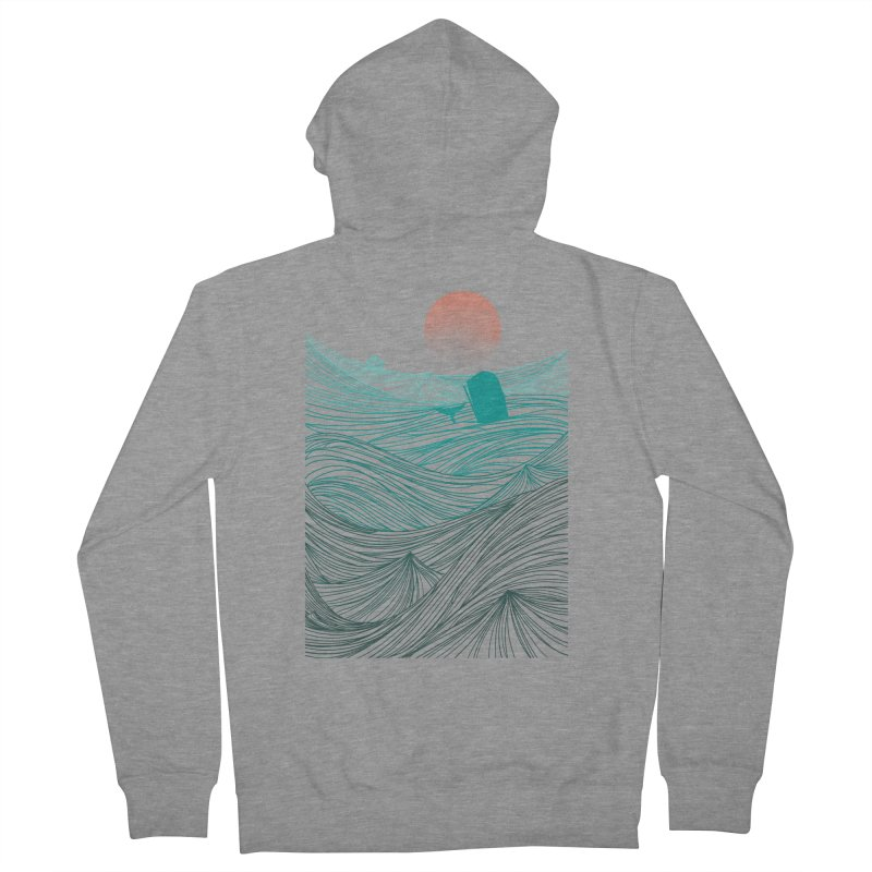 Behind the great whale Women's French Terry Zip-Up Hoody by Sebasebi