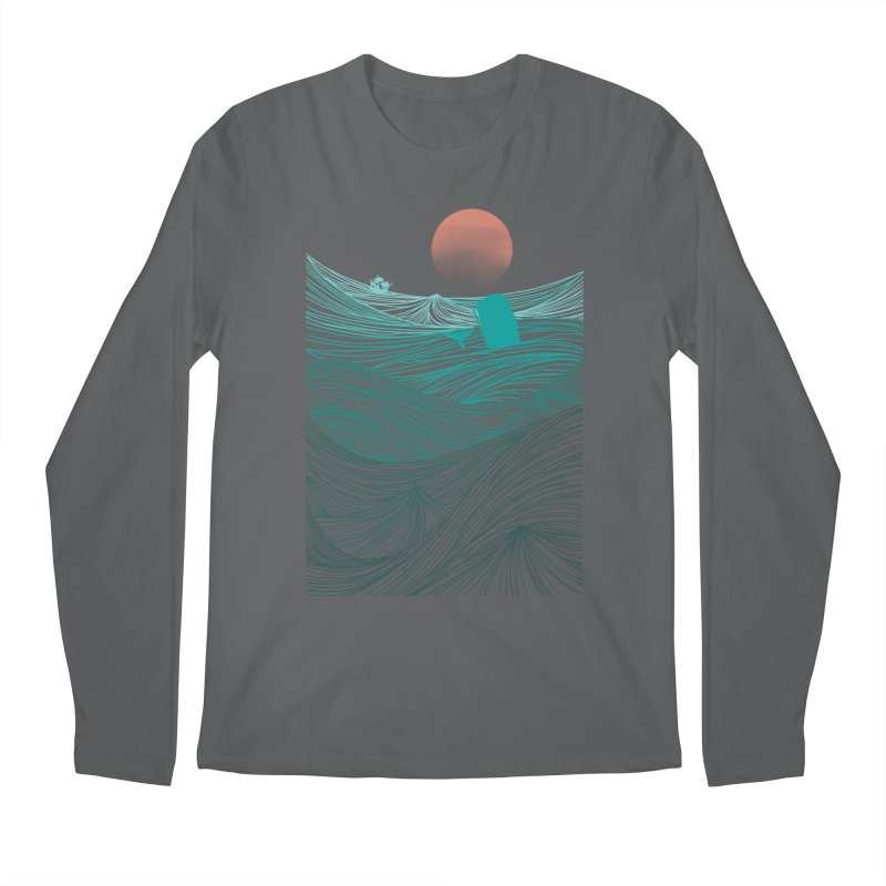Behind the great whale Men's Longsleeve T-Shirt by Sebasebi