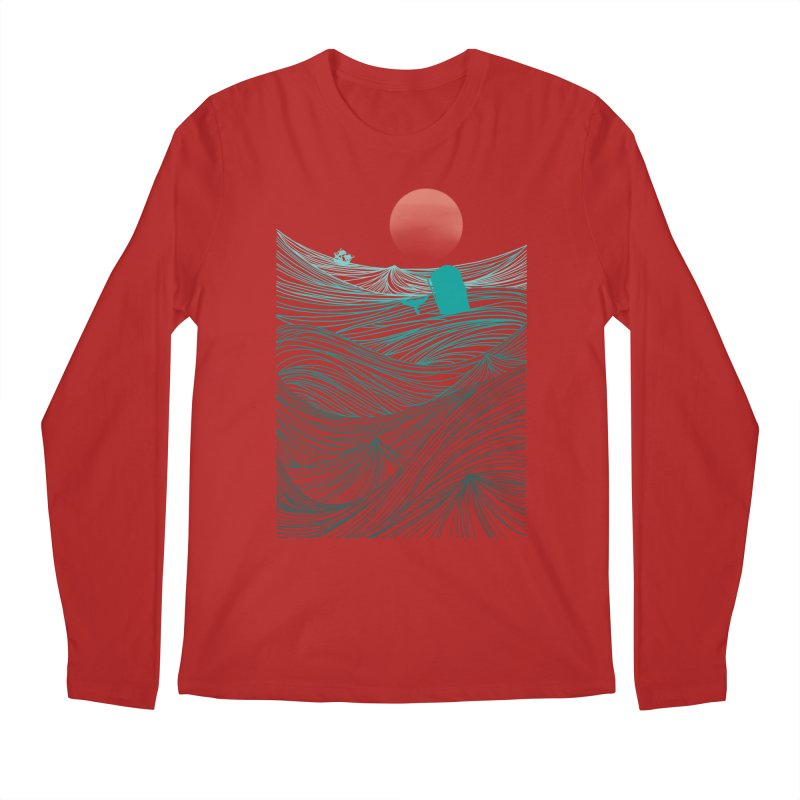 Behind the great whale Men's Longsleeve T-Shirt by Sebasebi