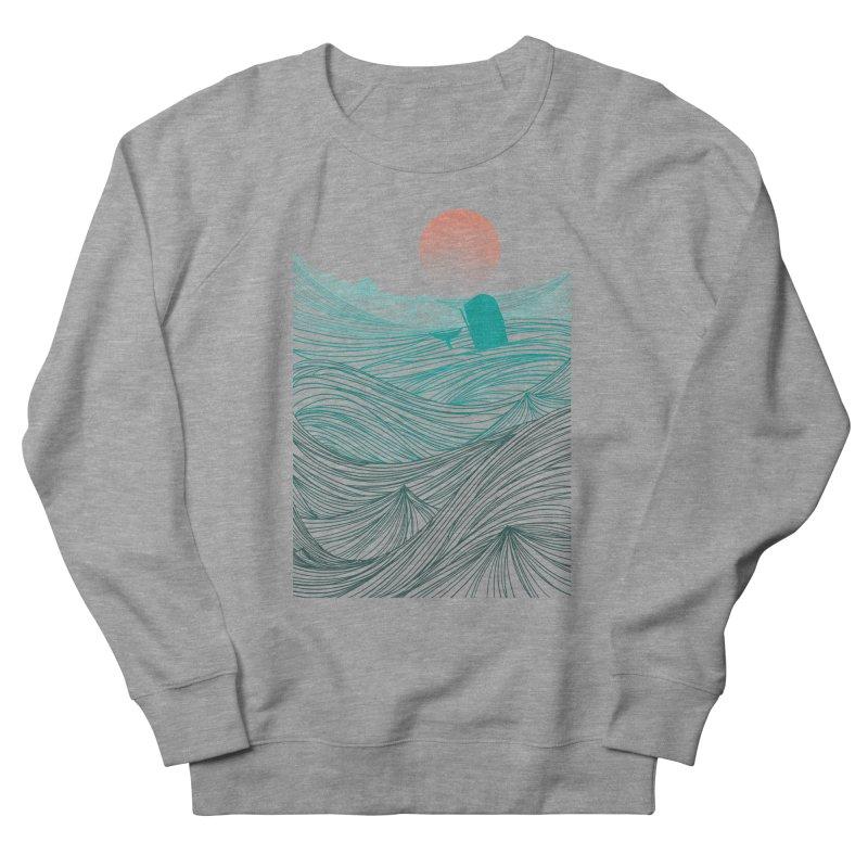 Behind the great whale Men's French Terry Sweatshirt by Sebasebi
