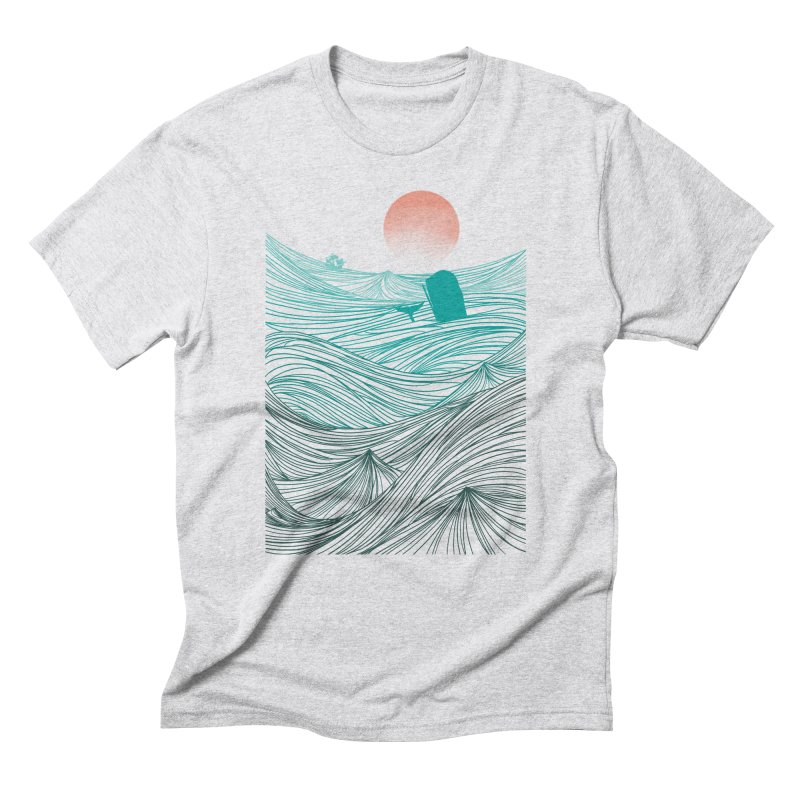 Behind the great whale Men's Triblend T-Shirt by Sebasebi