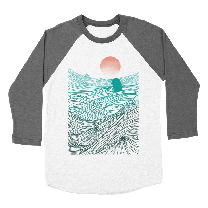 Behind the great whale Women's Baseball Triblend Longsleeve T-Shirt by Sebasebi