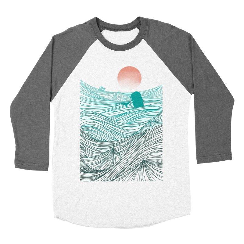 Behind the great whale Men's Baseball Triblend T-Shirt by Sebasebi