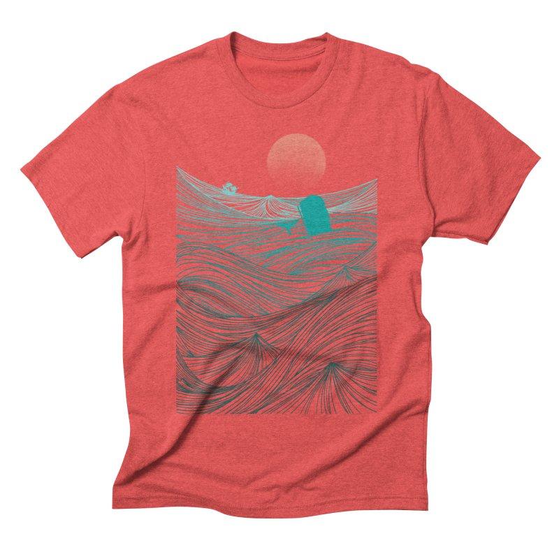 Behind the great whale Men's Triblend T-shirt by Sebasebi