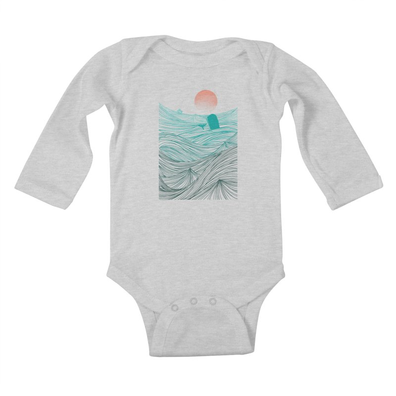 Behind the great whale Kids Baby Longsleeve Bodysuit by Sebasebi