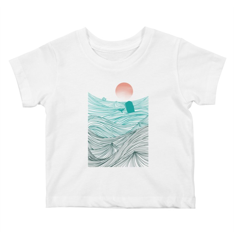 Behind the great whale Kids Baby T-Shirt by Sebasebi